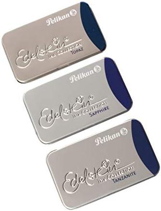 Pelikan Edelstein インクカートリッジ (3 x 6カートリッジ)、タンザナイト、トパーズ、サファイア