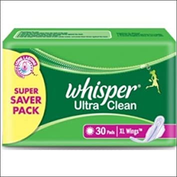 Whisper Extra Large Ultra clean Wings - Pack of 30