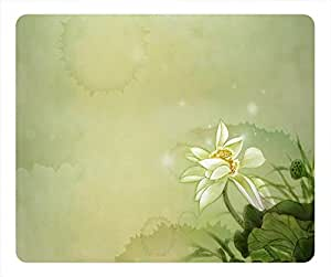 Water Lily Design Rectangular Mouse Pad Picture by runtopwell