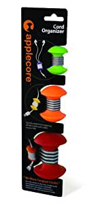 AppleCore Cable Organizer 3 Pack Combo (Green, Orange, Red)