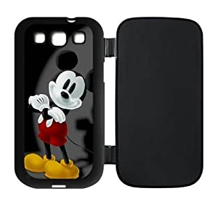 Mystic Zone Custom Mickey Mouse Flip For Case Samsung Note 3 Cover (Black,White,Pink) SKU-PUSSI0081