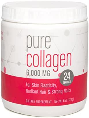 Pure Collagen, 6,000 MG Drink Mix Powder (unflavored), 6 oz (24 servings)