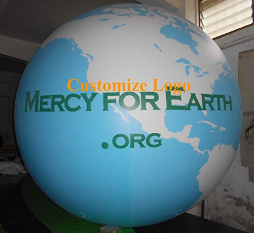 Air-Ads 6ft Giant Inflatable Globe Map World Balloon NO Flying Landing Balloon/Free Logo ()