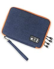 Waterproof Double Layer Cable Storage Bag Electronic Organizer Gadget Travel Bag USB Earphone Case Digital -xx