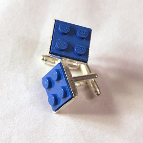 Blue Square Lego Block Cufflinks