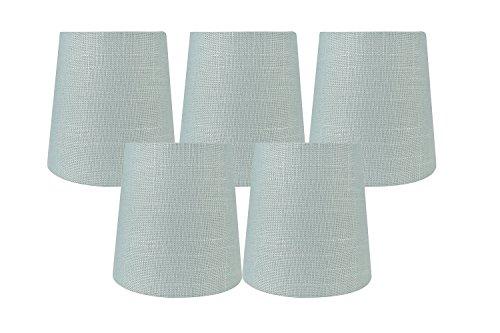 Meriville Set of 5 Capri Linen Clip On Chandelier Lamp Shade