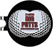Balanced Co. I Like Big Putts and I Cannot Lie Golf Hat Clip with Enamel Magnetic Ball Marker