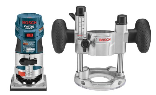 Bosch PR20EVSPK 5.6-Amp  Colt Palm Grip 1-Horsepower Fixed  and Plunge Base Variable-Speed Router Combo Kit by Bosch
