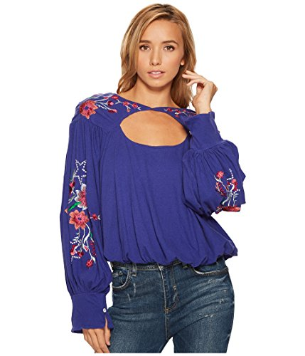 Free People Women's Lita Top Blue Small