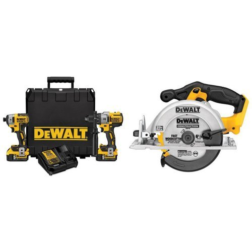 Best Review Of DEWALT DCK299P2  20V MAX XR Lithium Ion Brushless Premium Hammerdrill & Impact Driver Combo Kit, 5.0 Ah with Circular Saw