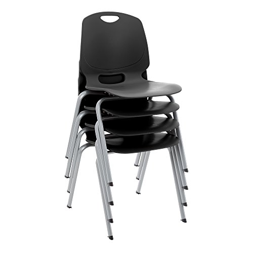 (Academic Stack Chair- Black (Pack of 4))