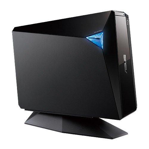 Asus BW-12D1S-U externer Blu-Ray Brenner (12x BD-R, 16x DVD±R, 8x DVD±R DL, 5x DVD-RAM, USB 3.0) inkl. Cyberlink PowerDVD 10 3D & Power2Go, Schwarz