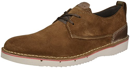 Clarks Capler Plain, Zapatos de Vestir para Hombre Marrón (brown Suede)