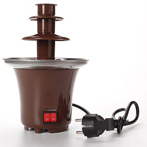 Lightton 3 Tiers 3-Pound Capacity Stainless Steel Chocolate Fondue Fountain For Home Party Restaurant Hotel Use with Luxury Waterfall by Lightton (Image #1)