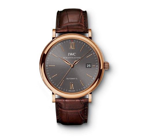 IWC Portofino Automatic Grey Dial Brown Leather Strap Mens Watch IW356511