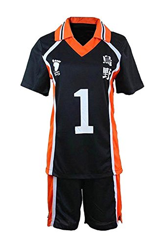 LYLAS Cosplay Costume Men's Sports Suits High School Jersey Uniforms (L, (Haikyuu Cosplay Costume)