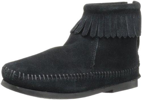 (Minnetonka Back Zip Boot (Toddler/Little Kid/Big Kid),Black,3 M US Little Kid )