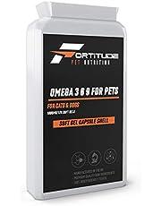 Omega 3 6 9 para mascotas 100 mg 120 cápsulas | Suplemento de aceite de pescado para perros y gatos 120 cápsulas blandas | Promueve las articulaciones sanas, el corazón, la piel y el abrigo.