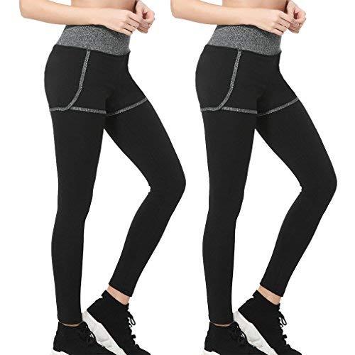 Wantdo Womens Running Long Leggings Quick-Dry Compression Power Flex Yoga Pants