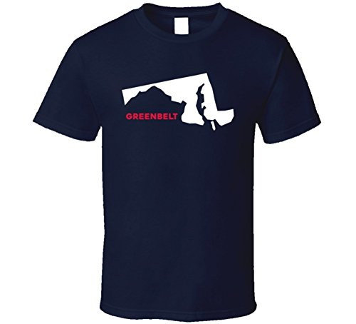 [Greenbelt Maryland Custom City Patriotic USA Map T Shirt XL Navy] (City Of Greenbelt Maryland)