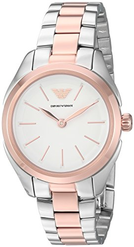Emporio Armani Women's 'Valeria' Quartz Stainless Steel Casual Watch, Color:Silver-Toned (Model: AR11029)