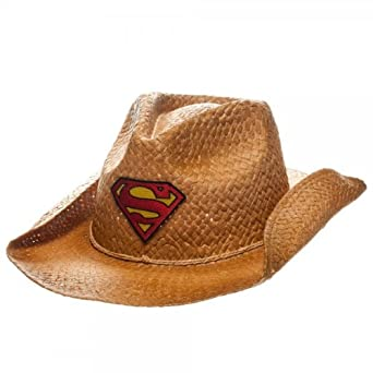 Superman Patch Logo Natural Straw Cowboy Hat  Amazon.co.uk  Clothing 58a160407c8