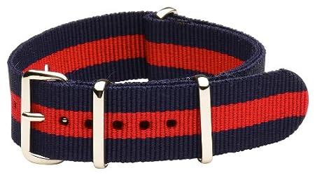 Striped Nylon Textile NATO watchband