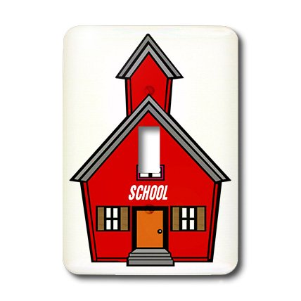 3dRose lsp_44812_1 Red Schoolhouse Single Toggle Switch