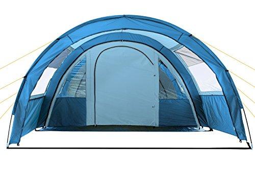 41EfVhr%2BMYL CampFeuer Tunnelzelt Multi Zelt für 4 Personen | riesiger Vorraum, 5000 mm Wassersäule | mit Bodenplane und versetzbarer…