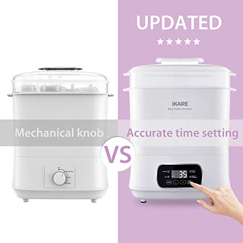41EfVkD5OmL - IKARE 5-in-1 Electric Steam Steri-lizer And Dryer For Baby Bottles, Pacifiers, Cups, Toys