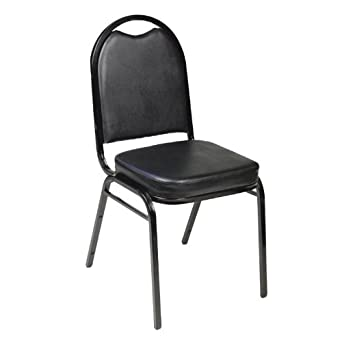 Carroll Chair 1-130-000-AZ Stack Chair with Domed Back (Set of 2)