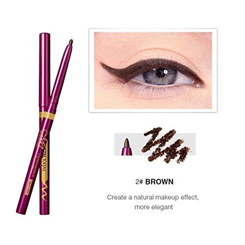 Hunputa Beauty Women Waterproof Eyeliner Liquid Eye Liner Gel Pen Pencil Quick-Dry Makeup Cosmetic (Brown) (Estee Eyeliner Liquid)