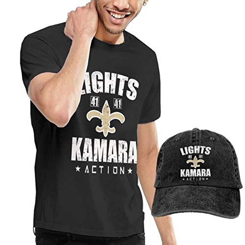 Lights Kamara Action T-Shirt Short Sleeve Denim Hat Male