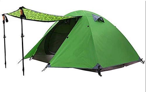 2 Personne Tente de Camping Double Couches en Aluminium Tige 3 Saison en Plein Air Randonnée Voyage Tente de Jeu Étanche À La Pluie