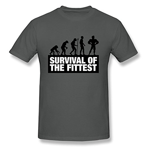 KEMING Men's Fitness Bodybuilding Evolution T-shirt 3X