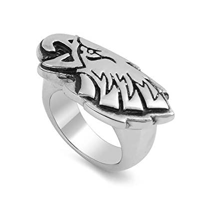 JewelryVolt Stainless Steel Ring Biker