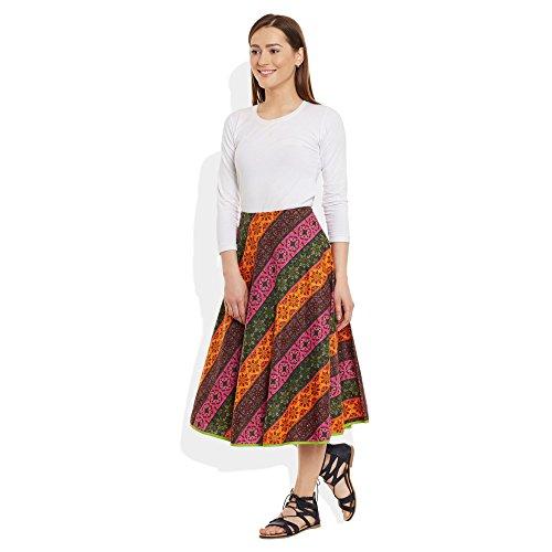 ShalinIndia - Falda - para mujer Multicolor