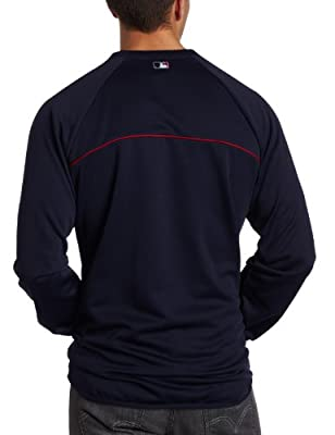MLB Cleveland Indians Long Sleeve Crew Neck Thermabase Tech Fleece Pullover