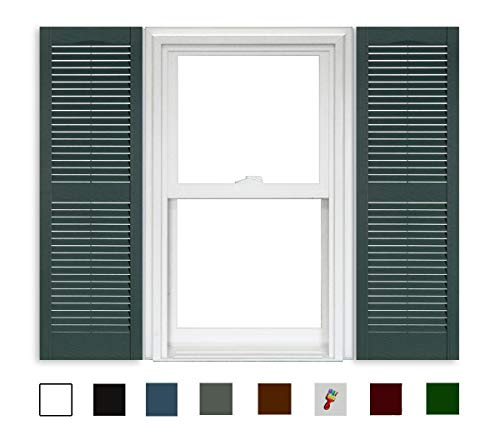 """Polaris Shutters Open Louvered - 331 Heritage Green - 15"""" x 59"""""""