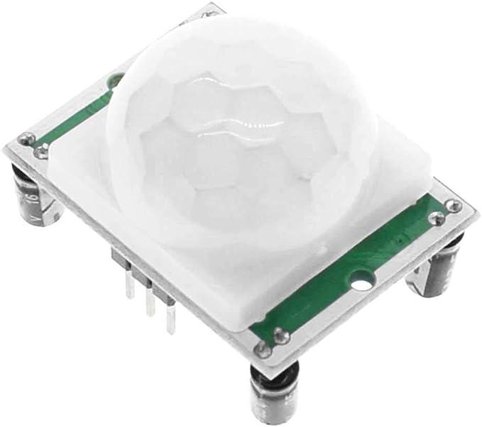 OcioDual Módulo Sensor de Movimiento PIR HC-SR501 con Salida Digital por Infrarrojos Detector IR para Electrónica Raspberry Pi: Amazon.es: Electrónica
