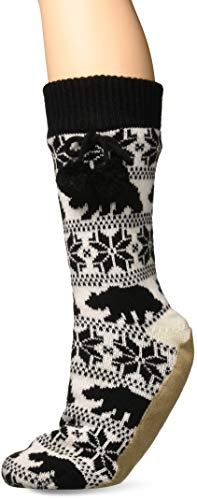 Billabong Women's Winter Bear Socks Slipper Socks Off Black Small/Medium ()