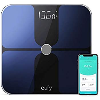 eufy Smart Scale with Bluetooth, Body Fat Scale, Wireless Digital Bathroom Scale, 12 Measurements, Weight/Body Fat/BMI, Fitness Body Composition ...