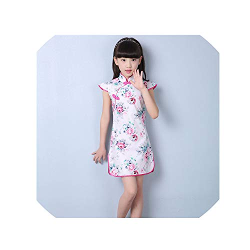1-9Y Summer Vintage Baby Girls Dress Elegant Chinese Style Children Clothing Costume Kids Dresses for Girls Clothes,Style Eleven,12M -
