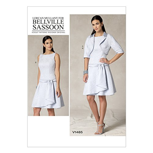 Bolero Sewing Pattern - Vogue Patterns V1485 Misses' Bolero Jacket & Drop-Waist Dress, A5 (6-8-10-12-14)