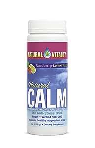 Natural Vitality Natural Calm Diet Supplement, Raspberry Lemon, 8 Ounce
