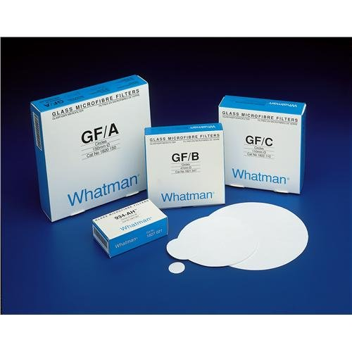 Whatman 1820-240 Glass Microfiber Binder Free Filter, 1.6 Micron, 4.3 s/100mL Flow Rate, Grade GF/A, 24.0cm Diameter (Pack of 100) by Whatman