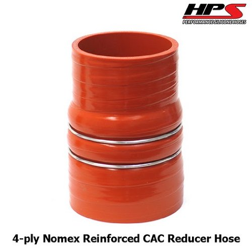 HPS CAC-350-400-HOT Silicone High Temperature 4-ply Aramid Reinforced Charge Air Cooler CAC Hose Hot Side, 100 PSI Maximum Pressure, 6