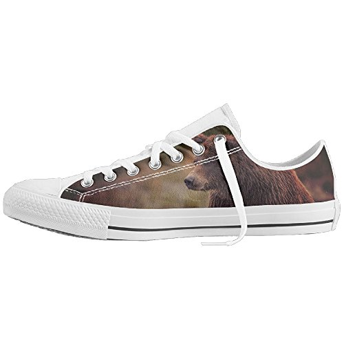 Grey Bear Low-Cut Canvas Shoes Unisex Sneaker-All Season Casual Trainers For Men And Women ColourName (Halloween Surprise Parks And Recreation)