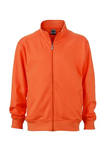 Giacca Lampo Coreana In Felpa E Jacket Sweat Orange Workwear Chiusura Con Alla Colletto rFUrXWf8