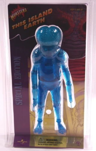 Mutant Earth - Sideshow This Island Earth Clear Blue Metaluna Mutant Figure by Universal Monsters